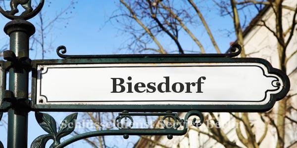 Ortseingangsschild Biesdorf