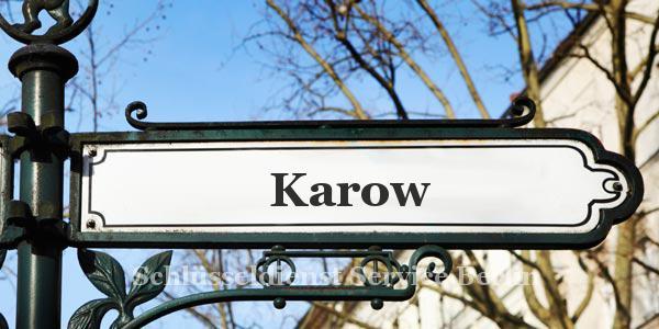 Ortseingangsschild Karow