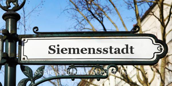 Ortseingangsschild Siemensstadt