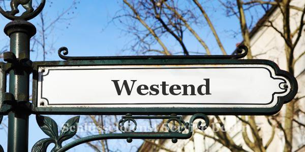 Ortseingangsschild Westend