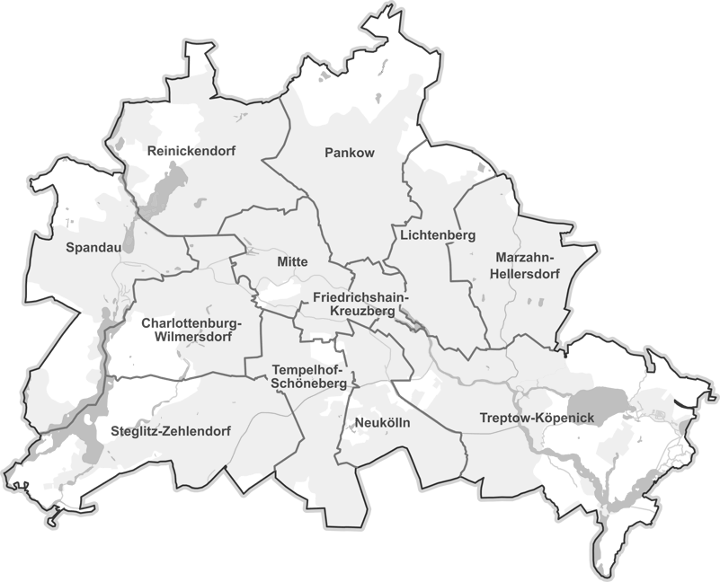 Bezirke in Berlin